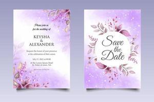 bellissimo modello di invito a nozze floreale disegno a mano