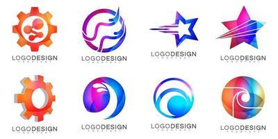 design moderno logo vettoriale minimale