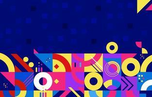 fondo geometrico astratto di arte piana moderna murale vettore
