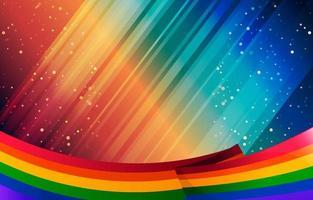 nastro arcobaleno in scintillante sfondo concetto vettore