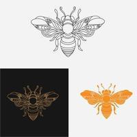 disegno di simmetria delle api vettore
