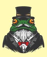 illustrazione del mago della rana vettore