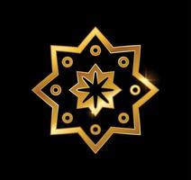 segno di vettore di mandala d'oro