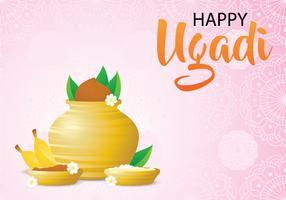 Presente giorno di Ugadi sfondo