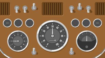 Vettore classico dell'interfaccia utente di Dashboard dell'automobile classica