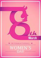 Felice giornata internazionale della donna vettore