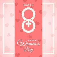 Cartolina d'auguri del giorno delle donne felici vettore