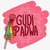 Sfondo di Gudi Padwa vettore