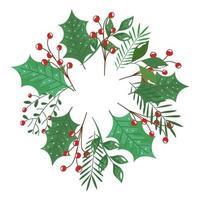 corona di ramo con foglie e semi icona isolata