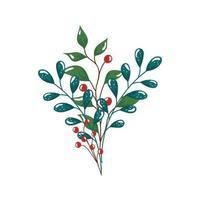 rami con foglie e semi icona isolata