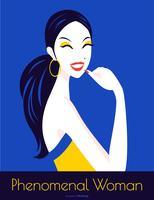 Manifesto di vettore di arte popolare di giorno delle donne internazionali
