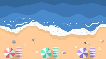 Vettore aereo di vista della spiaggia