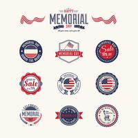 Memorial Day Badge Pack di vettore