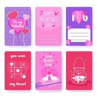carta di San Valentino vettore