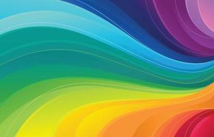 bellissimo sfondo onda arcobaleno vettore