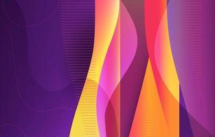 concetto di onda geometrica digitale vettore
