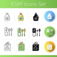 set di icone di anticonsumo