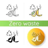icona di riciclaggio dei rifiuti alimentari vettore