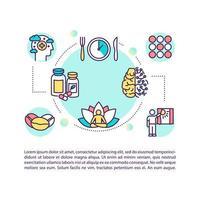 Icona del concetto di suggerimenti per biohacking con testo vettore