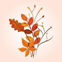 rami con foglie d'autunno
