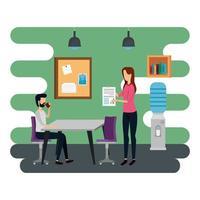 elegante coppia di lavoratori in ufficio
