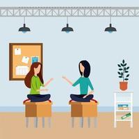 eleganti imprenditrici lavoratori in ufficio