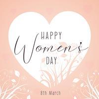 Sfondo decorativo della giornata delle donne