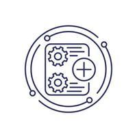 aggiungi nuovo progetto, icona della linea di attività vettore