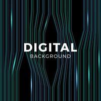 musica o rete dati astratto sfondo blu. collegamento tecnologico o equalizzatore. mostrando onde sonore con onde musicali vettore
