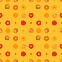 sfondo astratto modello vettoriale senza soluzione di continuità realizzato con forme geometriche circolari o punti con linea. arte vettoriale colorata, giocosa, trendy e moderna