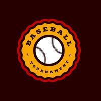 tipografia sportiva moderna di baseball in stile retrò. emblema di disegno vettoriale, distintivo e design del logo modello sportivo vettore