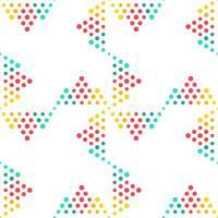 disegno geometrico senza cuciture del fondo del modello del cerchio - illustrazione astratta variopinta di vettore dai punti
