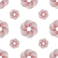 turbinio astratto o reticolo senza giunte geometrico contorto. stampa semplice geometrica. vettore ripetendo la trama. vettore di sfondo.