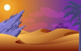 Illustrazione astratta del deserto di vettore