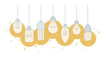 Vettore delle lampade delle luci