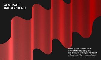 sfondo astratto moderno con linee ondulate in gradazioni rosse vettore