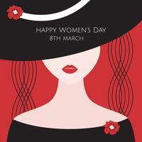 Vettore di giorno delle donne minimalista