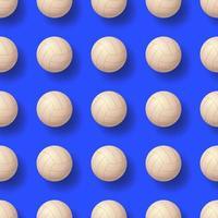 illustrazione vettoriale pettern palla pallavolo senza soluzione di continuità. disegno senza cuciture realistico della palla da pallavolo
