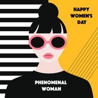 Vettore fenomenale della donna