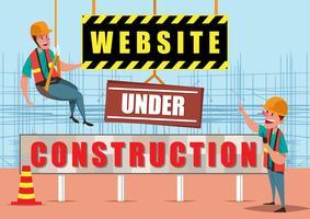 Illustrazione in costruzione del sito Web