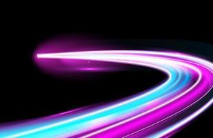 scie luminose colorate di esposizione lunga con movimento vettore