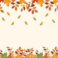 decorazione cornice di foglie autunnali