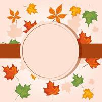 cornice circolare con foglie autunnali