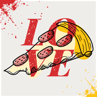 Poster Love Pizza vettore