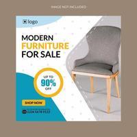 banner di vendita di mobili per flyer e social media vettore