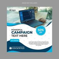 banner di social media per il marketing digitale vettore