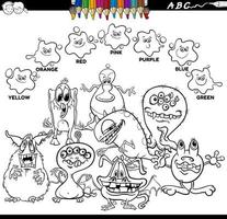 colori di base libro a colori con personaggi mostri