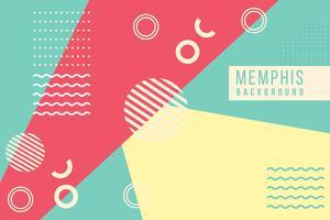 Sfondo di Memphis vettore