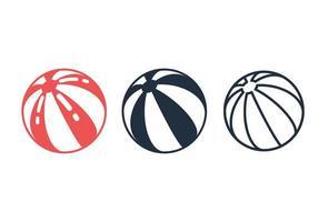 set di icone di pallone da spiaggia vettore