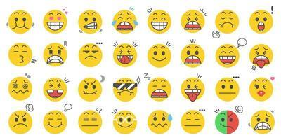 set di icone di emoticon vettore
